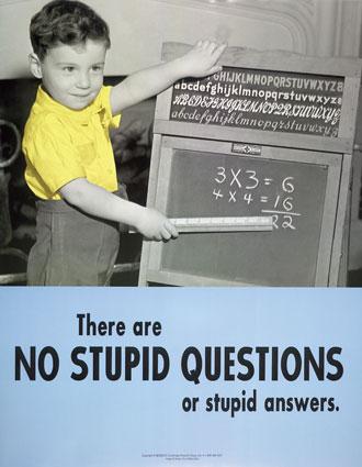 Không có câu hỏi ngớ ngẩn hay câu trả lời ngớ ngẩn.