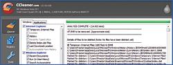 CCleaner tìm kiếm qua các chương trình đã được cài đặt và gỡ bỏ những t�p tin không cần thiết