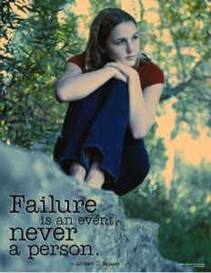 Thất bại chỉ là một sự kiện, không phải là tinh cách một con người