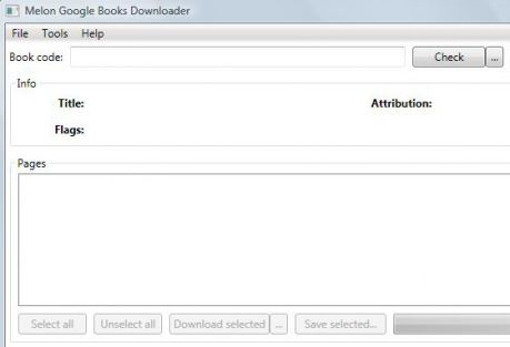 Giao diện chương trình Melon Google Book Download