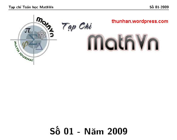 ảnh chụp từ bìa tạp chí Mathvn