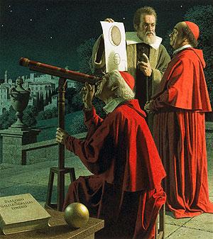 Bằng kính thiên văn Galile, các nhà khoa học phát hiện sao Kim  cũng có các pha giống Mặt trăng, điều này đảo lộn quan niệm Trái đất là  tâm của vũ trụ