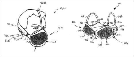 Mô hình chiếc mặt nạ chống khí độc có một không hai