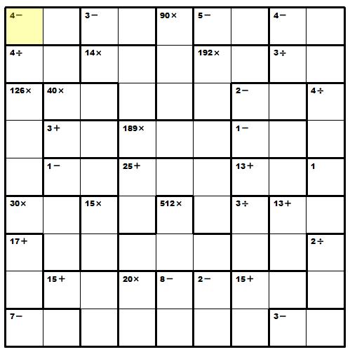 Amazing image throughout printable kenken puzzles 9x9